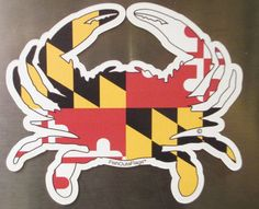 Maryland Crab Outa Flags  Decal or Magnet by FishOutaFlags on Etsy, $7.99