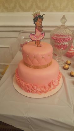 Black Princess Babyshower cake
