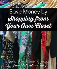 I had never thought about shopping from my own closet to save money! But the idea is genius, and it really works! Check out how many outfits she discovered were hiding in her own closet!!
