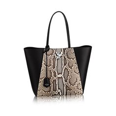 Louis Vuitton Noir Python Lockme Cabas Bag