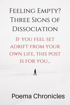 If you feel empty, you may be suffering from dissociation. #mentalhealth #mentalhealthawareness #trauma #health #lonely #dissociation #empty #numb