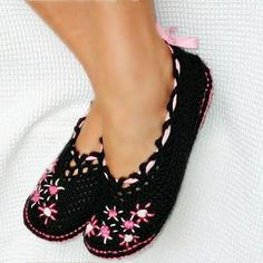 zapatos tejidos a crochet  #kangutingo www.kangutingo.com