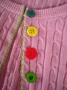 tutorial to turn a pullover into a cardigan