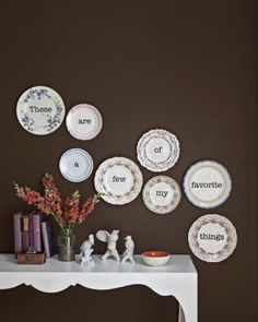 Vintage Plates on the Wall