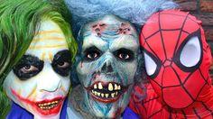 SPIDERMAN vs ZOMBIE Batman Joker Hide and Seek - In Real Life - Zombie B...