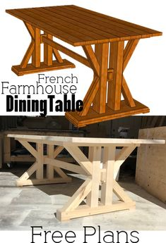 French Farmhouse Dining Table for the home kitchen #farmhouse #diningtable