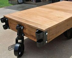 Restoration Of Turn Of The Century Industrial Cart Into A Coffee Table