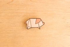 Pig origami pin, just adorable