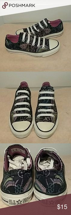 Converse all star graffiti sneakers Gently used Pre loved Converse all star graffiti sneakers size 6 in women's and true to size  From a smoke free home Price is firm Converse Shoes Athletic Shoes