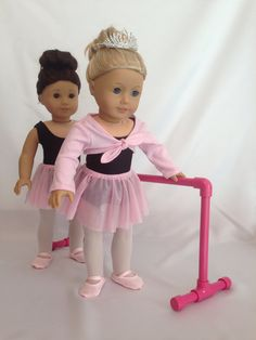 18 Doll Ballet Dance Outfit for American Girl by pleasantcompany01, $30.00