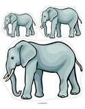 Elephant theme activities, printables, centers and games for preschool, pre-K and Kindergarten. Savanna Animals, Large Animals, Jungle Animals, Jungle Safari, World Elephant Day, Elephant Theme, Animal Activities, Preschool Activities, Preschool Learning