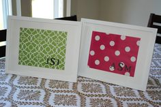 Monogrammed Wall Art {Re-Purposing Frames}