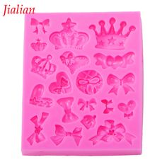 Jialian Many crown bowknot love cooking tools Christmas wedding decoration silicone mold fondant cake baking utensils FT-0226 #ChristmasDecor