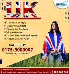 UK WELCOMES THE ASPIRING CANDIDATES FOR SEP. 2020 & JAN 2021 INTAKE  📌12 PASS CAN APPLY 📌WITHOUT IELTS 📌GAP ACCEPTED 📌SCHOLARSHIPS AVAILABLE 📌SPOUSE CAN ALSO APPLY 📌2 YEARS POST-STUDY WORK PERMIT  👉For more details ☎️0175 5000007 📩 enquiry@myvisa.co.in  #myvisa #visaconsultants #consultants #ukstudyvisa #studyvisa Scholarships In Uk, Patiala, Ielts, Gap, Study, How To Apply, Studio, Salwar Kameez, Studying