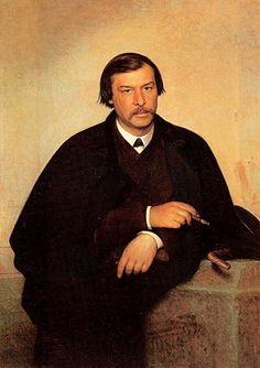 Ivan Nikolaevich Kramskoi (1837 - 1887)   Portrait of the artist and photographer Mikhail Borisovich Tulinov  Oil on canvas, 1868  116�81 cm  The Tretyakov Gallery, Moscow, Russia