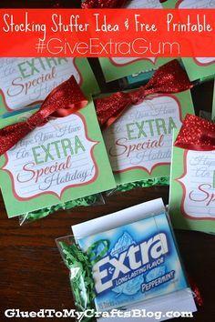 Gum Stocking Stuffer Idea   Free Printable 10349cfbdc4b