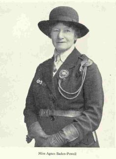 Agnes Smyth Baden Powell 16 December 1858 2 June 1945 was the younger sister of Robert Baden Powell Baron Baden Powell and was most noted for her work establishing the Girl Guide movement as a female counterpart to her older brother's Scouting Movement. Robert Baden Powell, Victorinox Swiss Army, Thinking Day, Old Maps, Girl Guides, Girl Scouts, Martial, The Past, 2 June