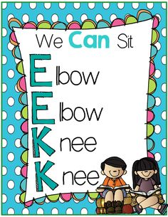 EEKK poster, I pick poster and lesson on expectations of behavior for the Daily Five. FREE!