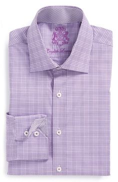 English Laundry Trim Fit Plaid Dress Shirt available at #Nordstrom