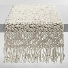 One of my favorite discoveries at WorldMarket.com: Natural Macrame Table Runner