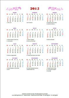 Calendario 2015 en Excel con feriados argentinos. #tipeos #dataentry