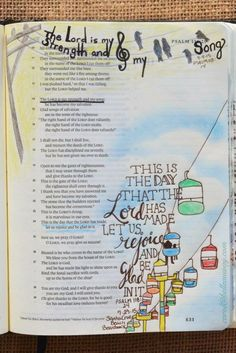 Psalm 118:14 September 4, 2015 #Bibleartjournaling #journalingbible #illustratedfaith