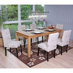 Set 6x sedie Littau tessuto per sala da pranzo 43x56x90cm   http://www.mobilionline.info/shop/sala-da-pranzo/mobile-completo-da-sala-da-pranzo/set-6x-sedie-littau-tessuto-per-sala-da-pranzo-43x56x90cm-scritte-piedi-scuri/  #sedie #saladapranzo #mobili #mobilicompleto