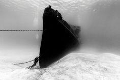 """Und noch ein Wrack, diesmal das der """"USS Kittiwake"""": Das Schiff wurde in der..."""
