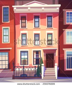 Find City Houses Facades Vector Illustration stock images in HD and millions of other royalty-free stock photos, illustrations and vectors in the Shutterstock collection. Episode Interactive Backgrounds, Episode Backgrounds, Building Illustration, House Illustration, Environment Concept Art, Environment Design, Animation Background, Art Background, Haus Vektor