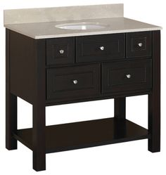Gallery One Brown Espresso Hagen Bath Vanity With Top contemporary bathroom vanities and sink consoles