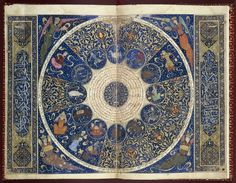 Horoscope of Prince Iskandar, grandson of Tamerlane, the Turkman Mongol conqueror, by Imad al-Din Mahmud al-Kashi, from The Book of the Birth of Iskandar (ca. 1384) – Source: Wellcome Library, London.