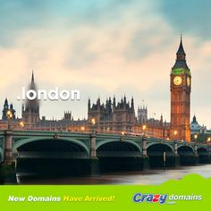 For the first time you can get the domain name that links the thousands of businesses and millions of people living and working in London with their city. London's calling: get yours today http://www.crazydomains.com/?tld=london&pipromo  #london #dotlondon #londonTLD