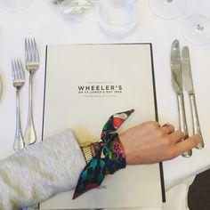 Silk Philisophy twilly bracelet. Wrist scarf. Silk bracelet. Designer silk.