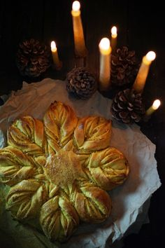 mabon celebration A stunningly beautiful (and easy to make!) sweet bread to mark the return of the light on the solstice, flavored appropriately with summery cattail pollen. This pos Mabon, Samhain, Pagan Yule, Kwanzaa, Baby Set, Winter Solstice Traditions, Winter Solstice Rituals, Christmas Traditions, Yule Celebration
