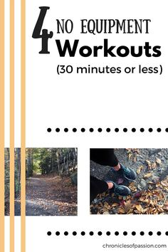 4 No Equipment Workouts (in 30 minutes or less! Fitness Nutrition, Fitness Tips, Fitness Motivation, Best Workout Routine, Workout Videos, Fun Workouts, At Home Workouts, Body Workouts, 30 Minutes Or Less