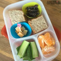 A cute little Food Pick in the chunks of cheese today… alongside a honey sandwich, some biltong, cucumber & naartjie. No one can possibly accuse me of spending hours on this lunchbox!!  #KeepingItReal but still a touch of #FunInLunch :)   PS: After I took this photo, I reconsidered the effect of an open Honey sandwich in a Primary Schooler's lunchbox ... and wrapped it up before sending to school. #StickySticky