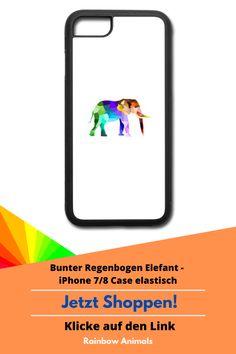 Nimm dein Lieblings-Tier überall mit hin! indem du es dir als Motiv auf deine neue Handy-Hülle drucken lässt. lasse dir dieses und weitere bunte Tier-Designs auf dein Phonecase drucken. Schau direkt in unserem Shop vorbei!  #Handyhülle #iPhone #iPhone7 #iPhone8 #Case #Handy #Elefant #Tiere #RainbowAnimals #Phonecase