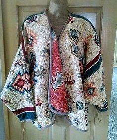 KOKOPELLI New Mexico Tapestry Cardigan Jacket Junk Gypsy Taos Prairie Chic M / L
