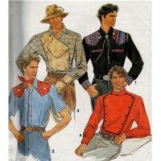 Mens Ivory Western Dress Shirt