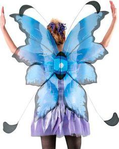Adult Blue & Black Fairy Costume Wings