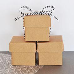 Kraft Favor Box  Wedding Kraft Box Favors  Kraft Box  by ModParty