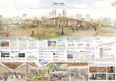 ITSUKI MATSUMOTO / PORTFOLIO | トニカ Presentation Board Design, Architecture Presentation Board, Architecture Collage, Architecture Board, Architecture Portfolio, Landscape Architecture, Landscape Design, Architecture Design, Portfolio Presentation