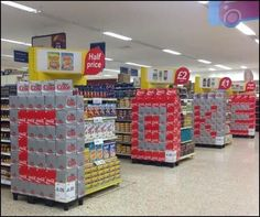 Clever Coke In-Store Displays
