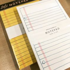 My favorite notepads to make lists and write little happy notes to include in lunches. Available at Inspired #riflepaper #notepad #schoolpaper #lunchnotes by rocketliv