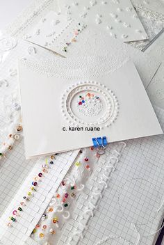 Paper Design, Hand Stitching, Home Crafts, Paper Art, Embroidery, Papercraft, Needlepoint, Handmade Crafts, Diy Crafts Home