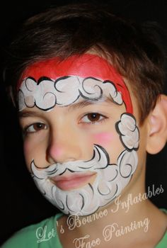 Santa Claus Face Painting by Let's Bounce Inflatables Ltd. Burnaby, BC