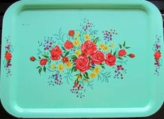 PICTURES OF VINTAGE SERVING TRAYS | ... Farmgirl Connection - re-purposing an antique serving tray