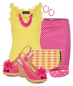 """""""Summer Pink and Yellow"""" by cathy0402 ❤ liked on Polyvore featuring Green Lamb, Rosemunde, Rebecca Minkoff, Ted Baker, Gogo Philip, Gorjana, CL by Laundry, women's clothing, women's fashion and women"""