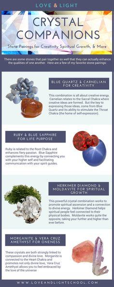 Crystal Companions: Stone Pairings for Creativity, Spiritual Growth, & More