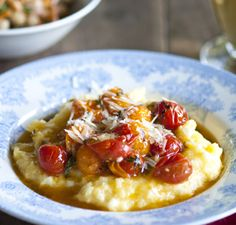 Corn Polenta:   Good, but much tastier with cheddar and parmesan coating it like crazy.